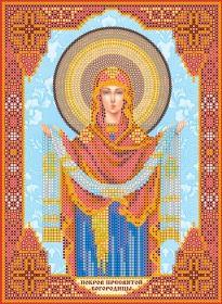 Схема для вышивки бисером на холсте Покров Пресвятой Богородицы