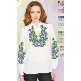 Заготовка женской сорочки на белом габардине Biser-Art SZ74 - 320.00грн.