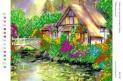 Рисунок на габардине для вышивки бисером Райський куточок