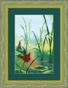 Набор для вышивки крестом Золотая рыбка