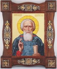 Схема вышивки бисером на ткани Св. Сергий Радонежский  Краса и творчiсть Р-80511