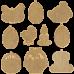 Набор заготовок для вышивки бисером по дереву Великдень Волшебная страна FLSW-008
