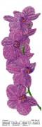 Схема вышивки бисером на атласе Панно ОРХИДЕЯ