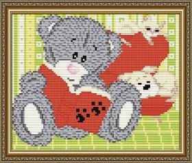Набор для выкладки алмазной мозаикой Мишка с книжкой Art Solo АТ5535 - 248.00грн.