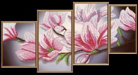 Схемы для вышивки бисером на атласе Магнолия (4 части) Новая Слобода (Нова слобода) В46510 - 128.00грн.