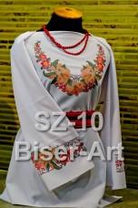 Заготовка для вышивки бисером Сорочка женская Biser-Art Сорочка жіноча SZ-10 (габардин)