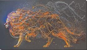 Набор для вышивки бисером Золотой лев