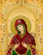Рисунок на ткани для вышивки бисером Семистрельная Пресвятая Богородица