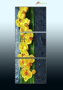 Схема для вышивки бисером на атласе Жёлтый каскад (триптих)