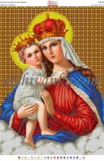 Рисунок на габардине для вышивки бисером Мадонна з немовля Вишиванка А2-088