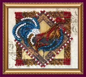 Набор - магнит для вышивки бисером Величавый петух Абрис Арт АМА-149 - 38.00грн.