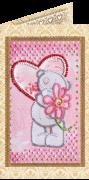 Набор - открытка для вышивки бисером С Любовь 3