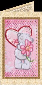 Набор - открытка для вышивки бисером С Любовь 3 Абрис Арт АО-116 - 68.00грн.