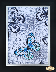 Набор для вышивки нитками Бабочка, , 230.00грн., НШ-005, Tela Artis (Тэла Артис), Животные