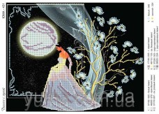 Схема вышивки бисером на атласе Разговор с луной Юма ЮМА-431