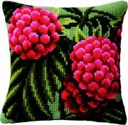 Набор для вышивки подушки крестиком Малина