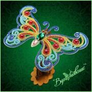 Набор для вышивки бисером Ажурная бабочка 3D 084