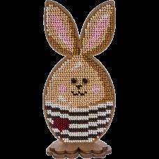 Набор для вышивки по дереву Пасхальный кролик в полосатом Волшебная страна FLK-326