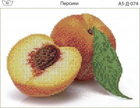 Схема для вышивки бисером на габардине Персики
