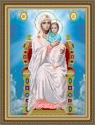 Рисунок на ткани для вышивки бисером Богородица на престоле