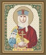 Схема вышивки бисером на габардине Св. Благоверная Княгиня Ольга