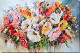 Набор для вышивания бисером Нежные цветы