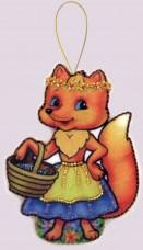 Набор для изготовления игрушки из фетра для вышивки бисером Лисичка Баттерфляй (Butterfly) F109