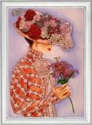 Набор для вышивки бисером Дама с лилиями