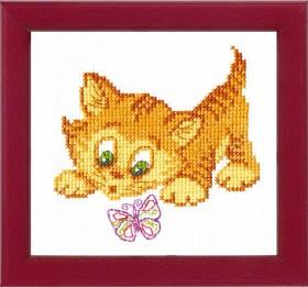 Набор для вышивки крестом Знакомство с бабочкой Cristal Art ВТ-026 - 48.00грн.