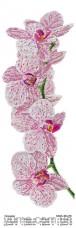 Схема вышивки бисером на атласе Панно ОРХИДЕЯ  Юма ЮМА-364-Р6