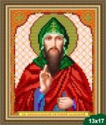 Схема вышивки бисером на габардине Святой Антоний