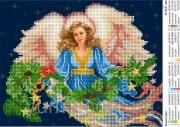Схема вышивки бисером на атласе Зимняя фея