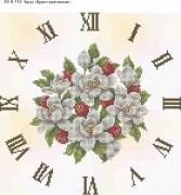 Схема для вышивки бисером на габардине Часы Букет Магнолии