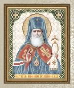 Схема для вышивки бисером на габардине Святой Исповедник Архиепископ Лука