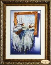 Набор для вышивки бисером Море в картине Tela Artis (Тэла Артис) НТК-022