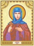 Схема для вышивки бисером на холсте Святая Анна