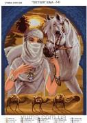 Схема вышивки бисером на атласе Принцеса Пустыни