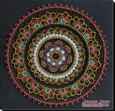 Набор для вышивки бисером на холсте Мандала Абрис Арт АВ-691