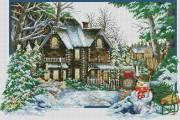 Набор для выкладки алмазной мозаикой Времена года: Зима