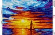 Схема для вышивки бисером на габардине Полум'яний захід сонця