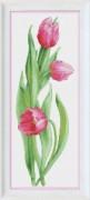 Набор для вышивки нитками Розовые тюльпаны