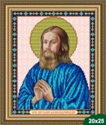 Рисунок на ткани для вышивки бисером Святой Виталий