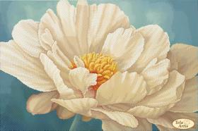 Схема для вышивки бисером на атласе Кремовый пион, , 95.00грн., ТА-386, Tela Artis (Тэла Артис), Цветы