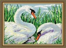 Набор для выкладки алмазной мозаикой Лебединая семья Art Solo АТ3011