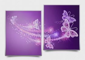 Схема для вышивки бисером на атласе Ажурные бабочки (фиолетовый) диптих А-строчка АРЗ-010 - 182.00грн.