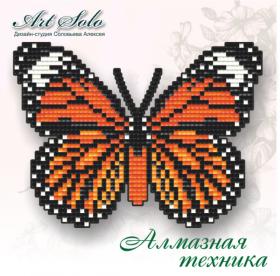 Набор-магнит для выкладки алмазной мозаикой Полосатый тигр (Danaus genutia) Art Solo БАТ06 - 110.00грн.