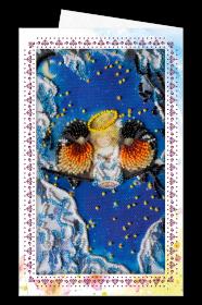 Набор для вышивки бисером Открытка-конверт Вместе теплее