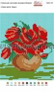 Рисунок на габардине для вышивки бисером Серія квітів: Маки