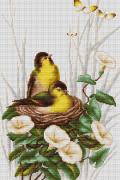 Набор для вышивки крестом Птицы в гнезде