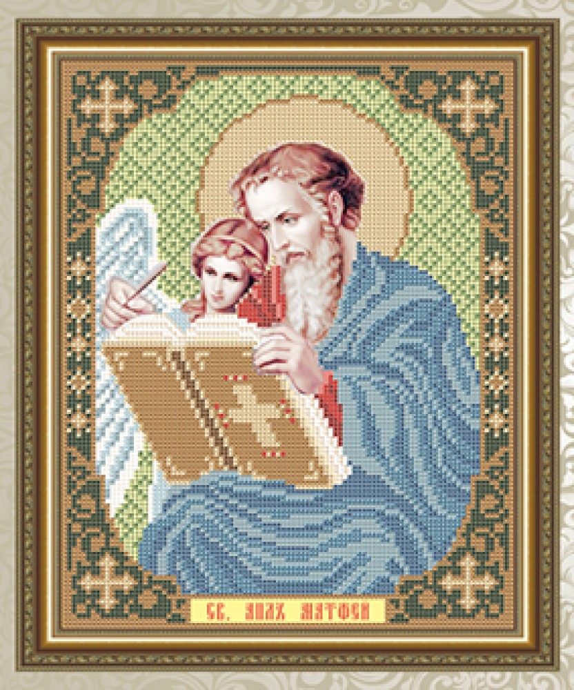 Вышивка бисером иконы матвей